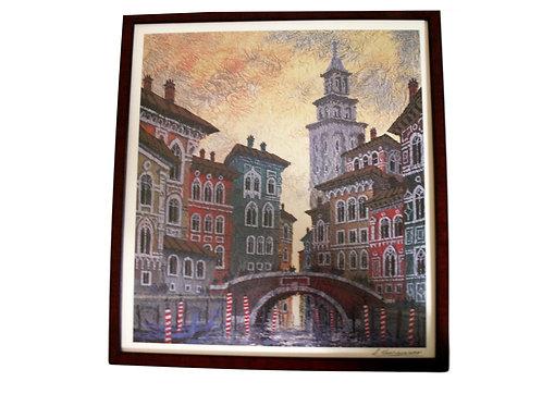 """""""Venice"""" Serigraph by Anatole Krasnyansky"""