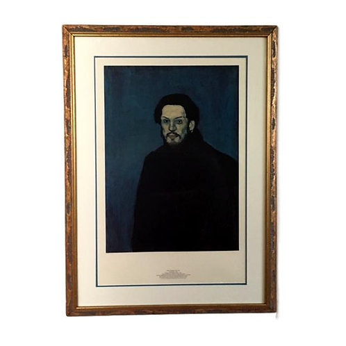 """""""Autoportrait"""" 1901 by Pablo Picasso (Printed in 1980)"""