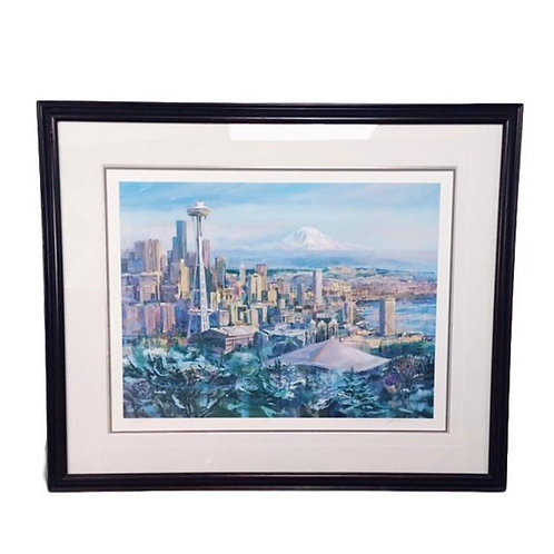 """""""Seattle"""" Lithograph S/n A.P. by Marshall Johnson"""