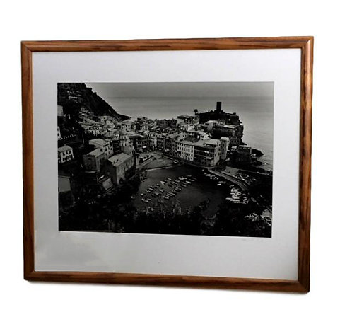 """Vernazza Overlook"" B & W Photograph by Edward Vliek"