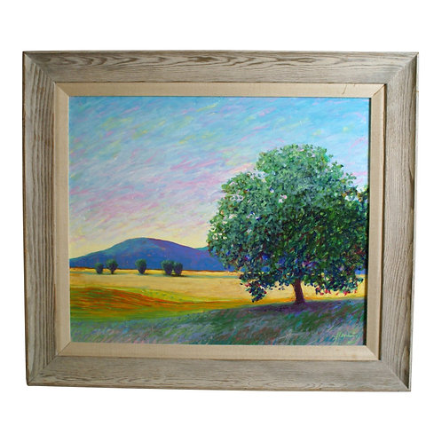 """Evening and the Witness Tree"" Oil Painting by Stephen Henning (2002)"