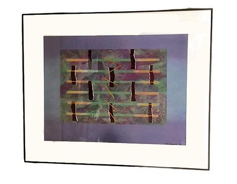 """""""Lavender Lake"""" 1985 Collage by Chris Baumgartener"""