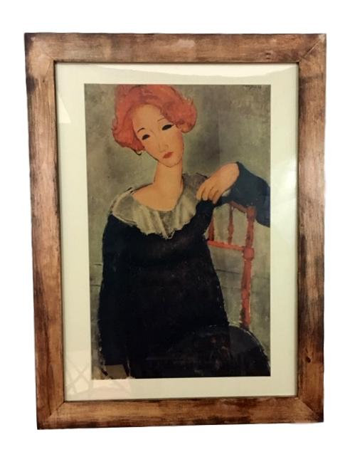 """Expressionist Print of Modigliani's """"Woman With Red Hair"""""""