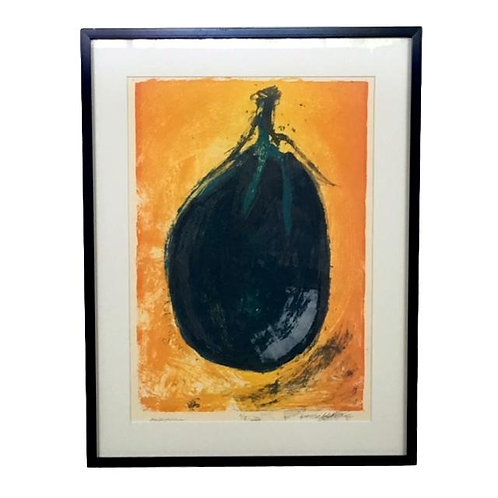 """Aubergine"" S/n lithograph by J. Chang"