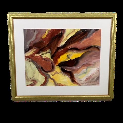 """Inspiration"" Modern Abstract Acrylic by Vic Calderon"