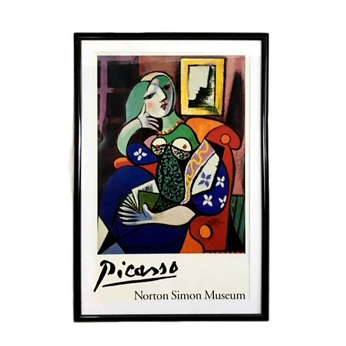 "1996 Norton Simon ""Picasso's Woman With a Book"" Museum Poster"