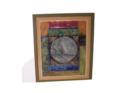 """Circle Image"" Original Watercolor by Harry Widman"