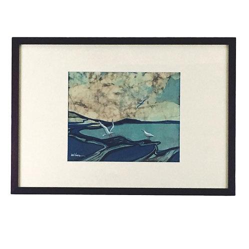 """Seagulls"" Batik by Louise Wilson"