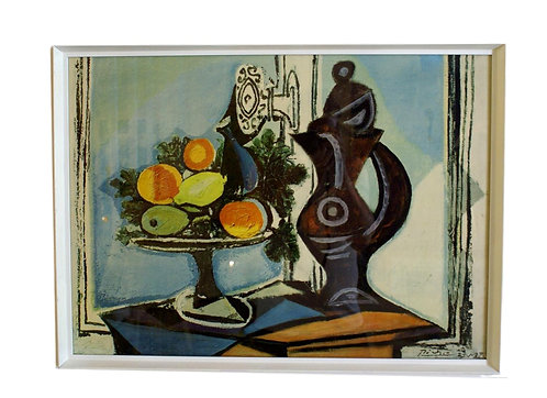 "1970's Vintage Reproduction of Picasso's ""Compote Dish and Pitcher by the Window"