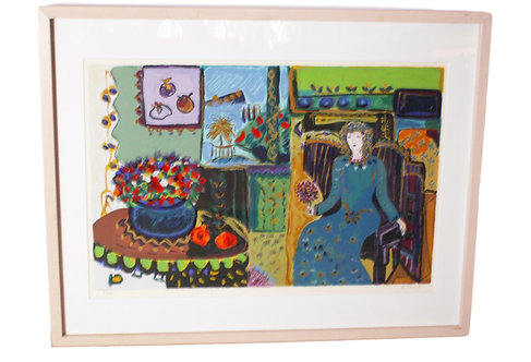"""Room with a View"" S/n Hand Painted Serigraph by Bill Colby"