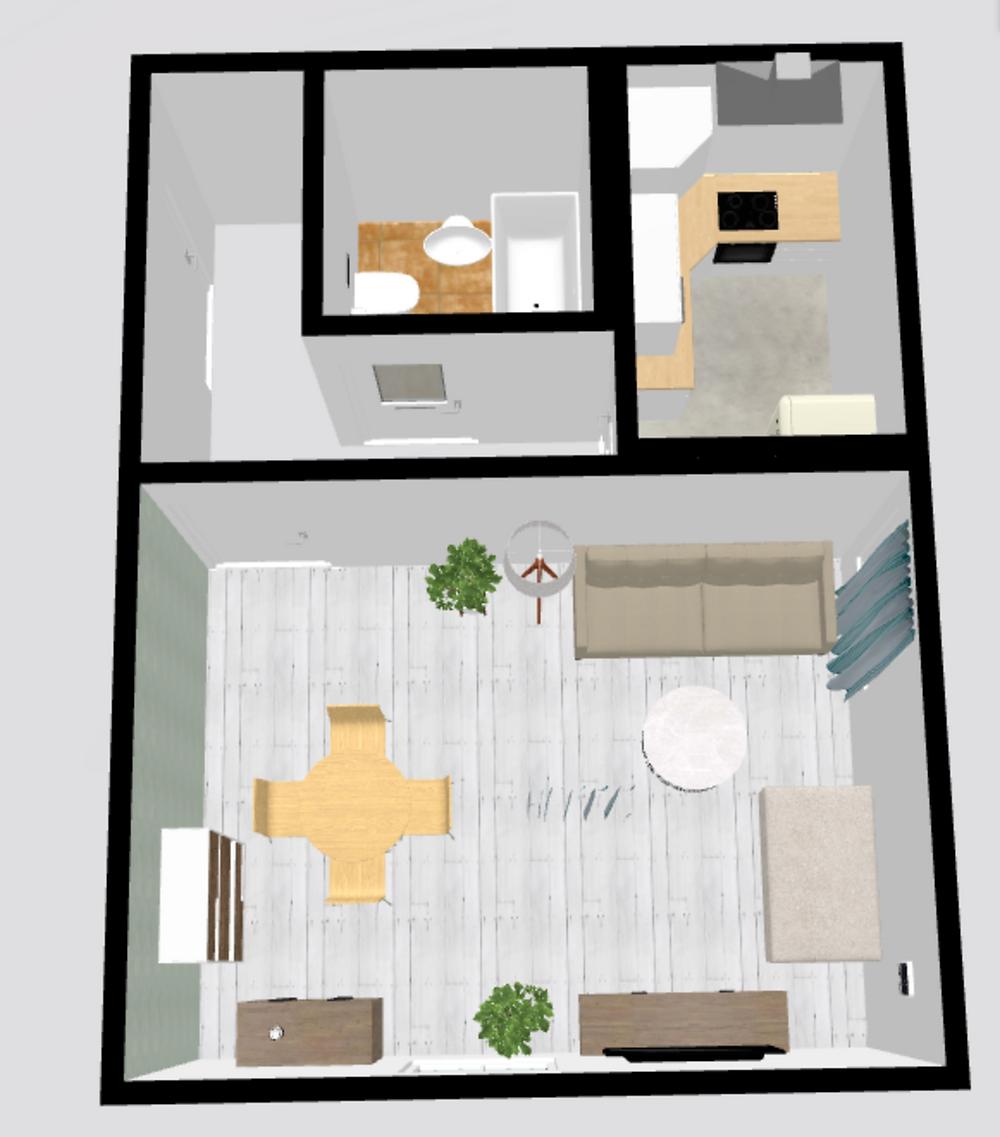 Studio apartment in Vilnius