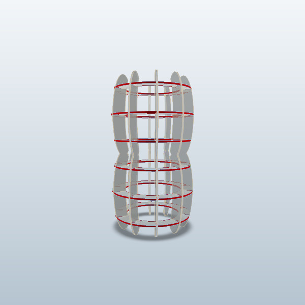 Cage 2, Pineapple Cage, Skeleton Illustrator, 123D