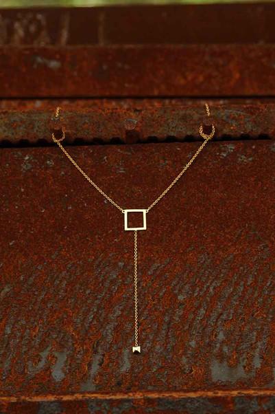 Square Y Necklace