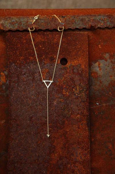 Triangle Y Necklace