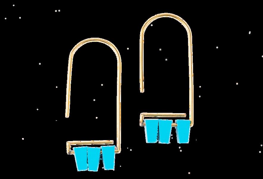 Turquoise Hook Earrings