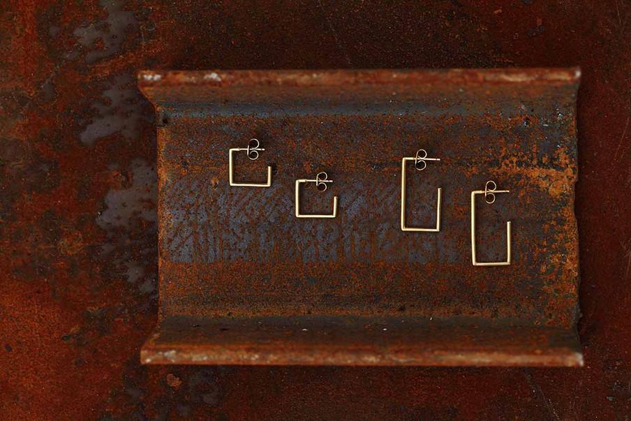 Square Pipe Earrings