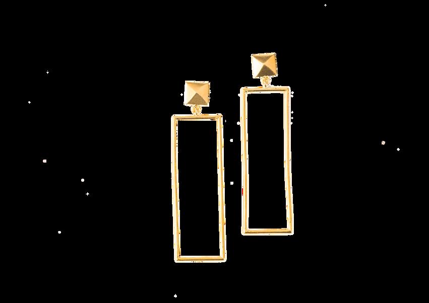 Square Pyramid Earrings