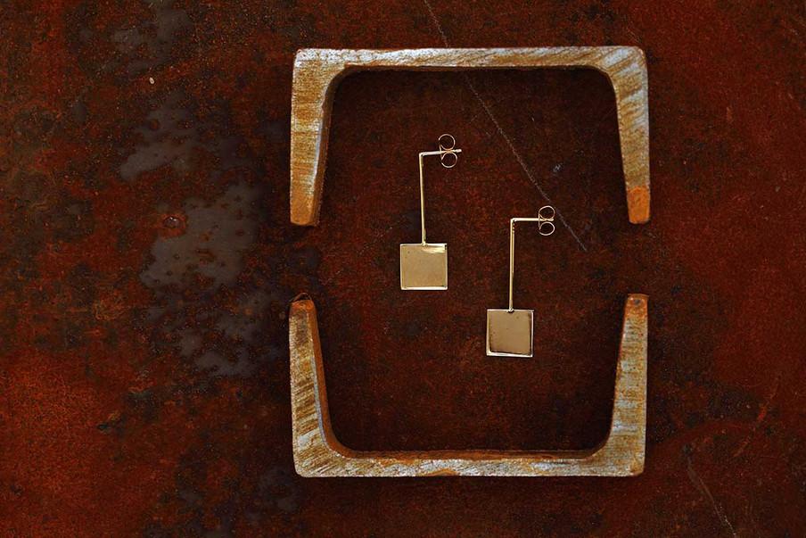 Square Flat Earrings