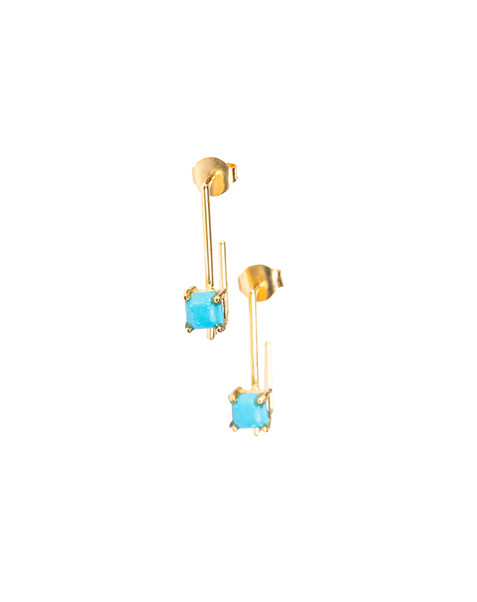 Turquoise Pipe Earrings