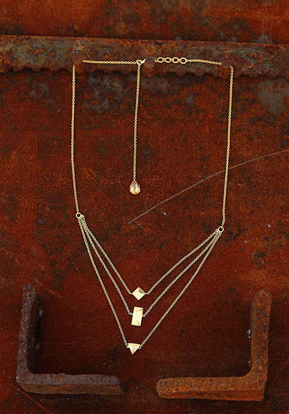 Layered Necklace with Back drop