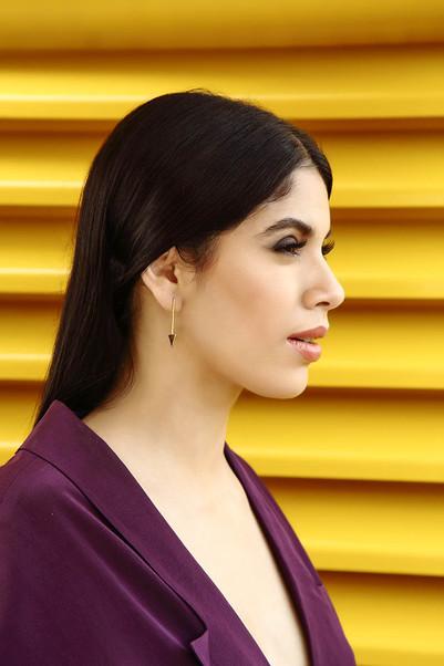 Flat Triangle Earrings