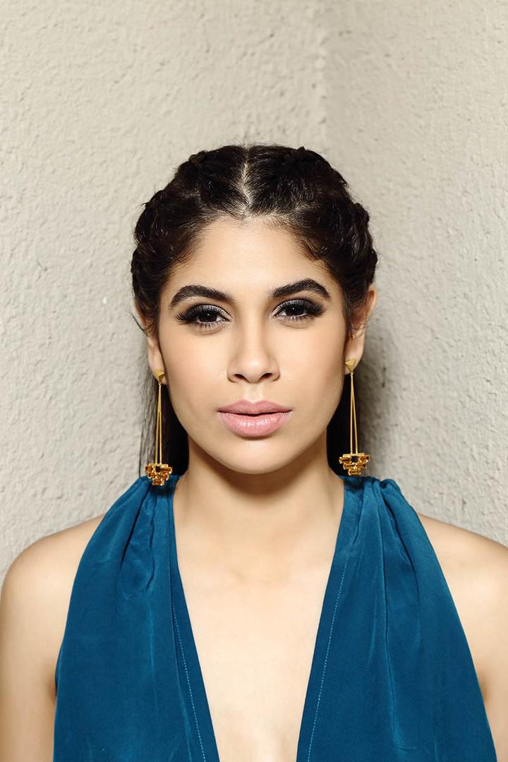 Citrine Pyramid Earrings