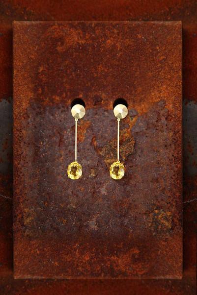 Circle Pyramid Earrings