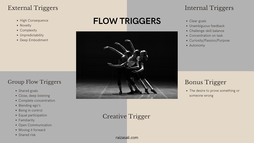 Flow triggers for hacking flow state