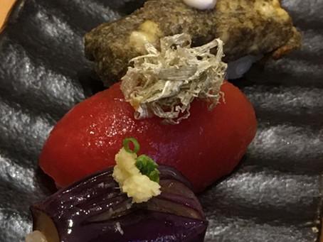 Boiled Tomato with Shaved Kombu