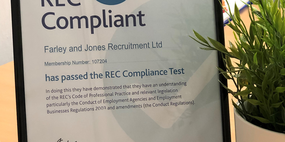 Farley & Jones are 100% compliant with REC!