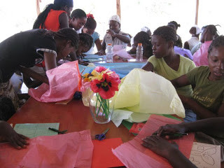 Girls Camp… Embroidery and Flowers