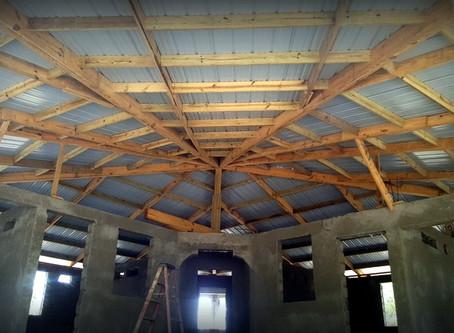 The Kindergarten has a roof!