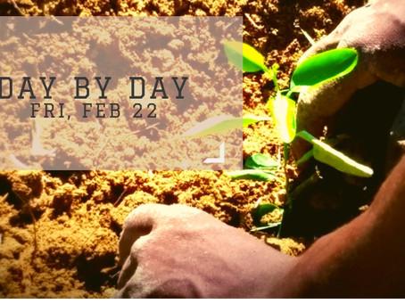 Day by Day: Fri, Feb 22