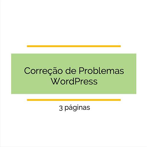 3 páginas - Corrigir problemas de CSS WordPress