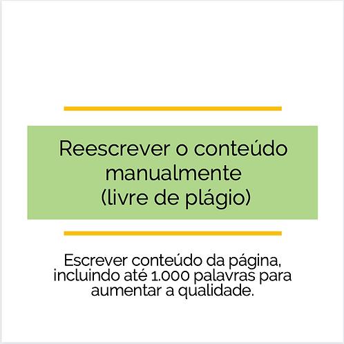 1.000 palavras - Reescrever o conteúdo manualmente livre de plágio