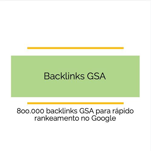 800 Backlinks GSA para obter um ranking rápido no Google
