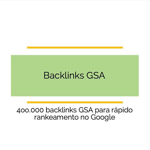 400.000 BACKLINK GSA para obter um ranking rápido no Google
