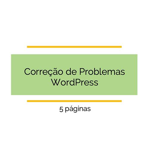 5 Páginas - Corrigir problemas de CSS WordPress
