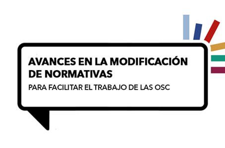 INFORMACIÓN IMPORTANTE: Avances en normativas para OSC
