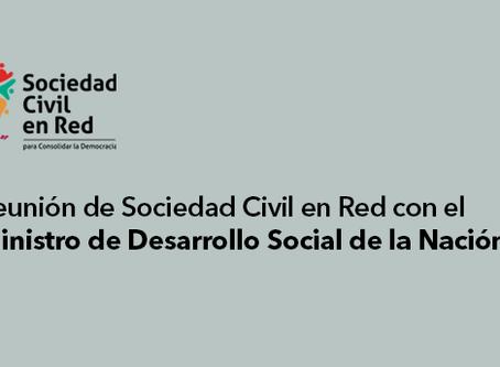 REUNIÓN CON EL MINISTRO DE DESARROLLO SOCIAL DE LA NACIÓN