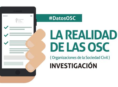Primera investigación nacional sobre Organizaciones de la Sociedad Civil