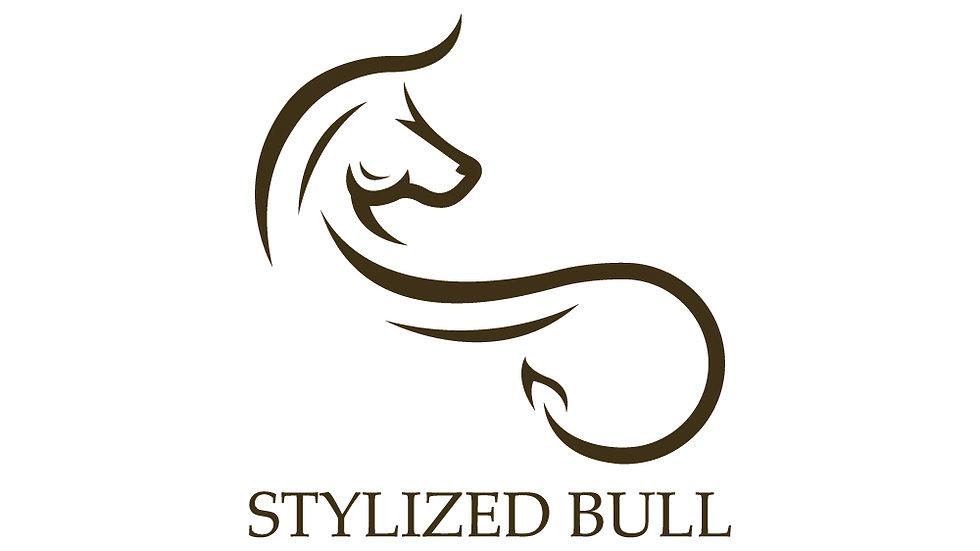 Stylized Brown Bull