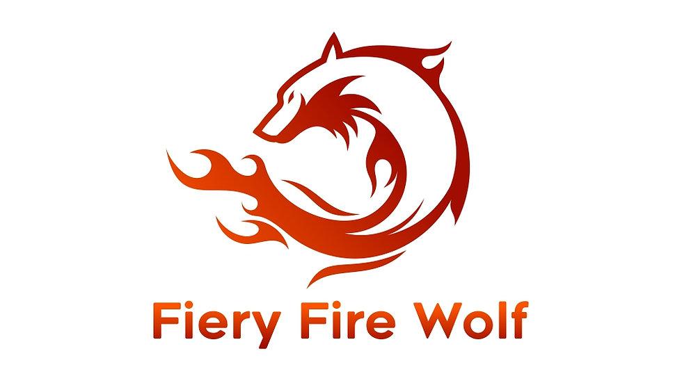Fiery Fire Wolf