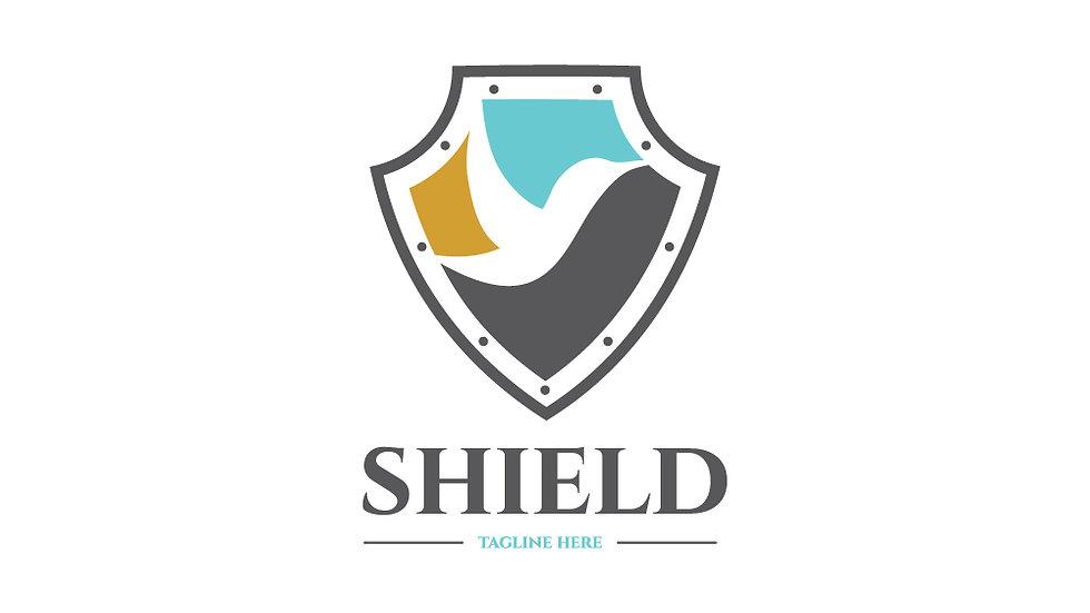 Shield Negative Space Bird