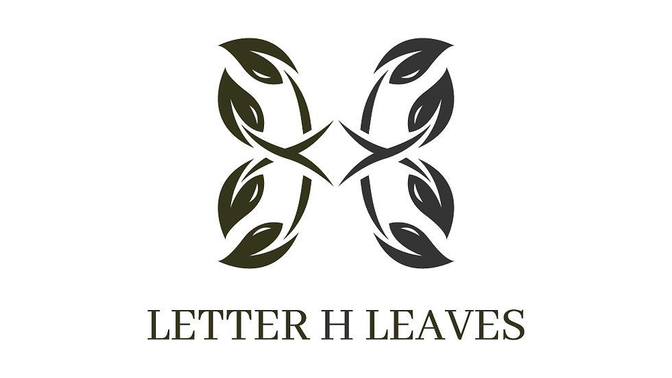 Letter H Leaves