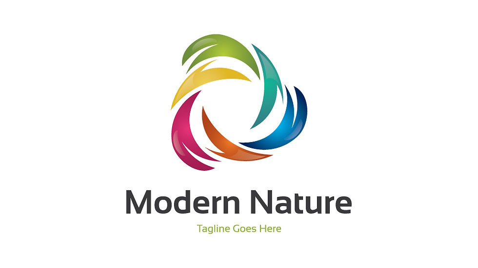 Modern Nature Colored Leaves