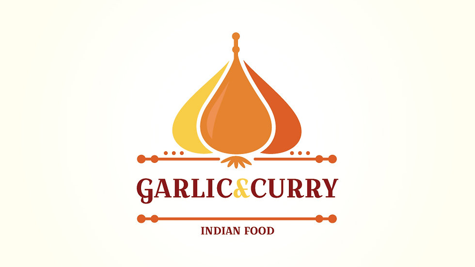 Garlic And Curry Indian Food