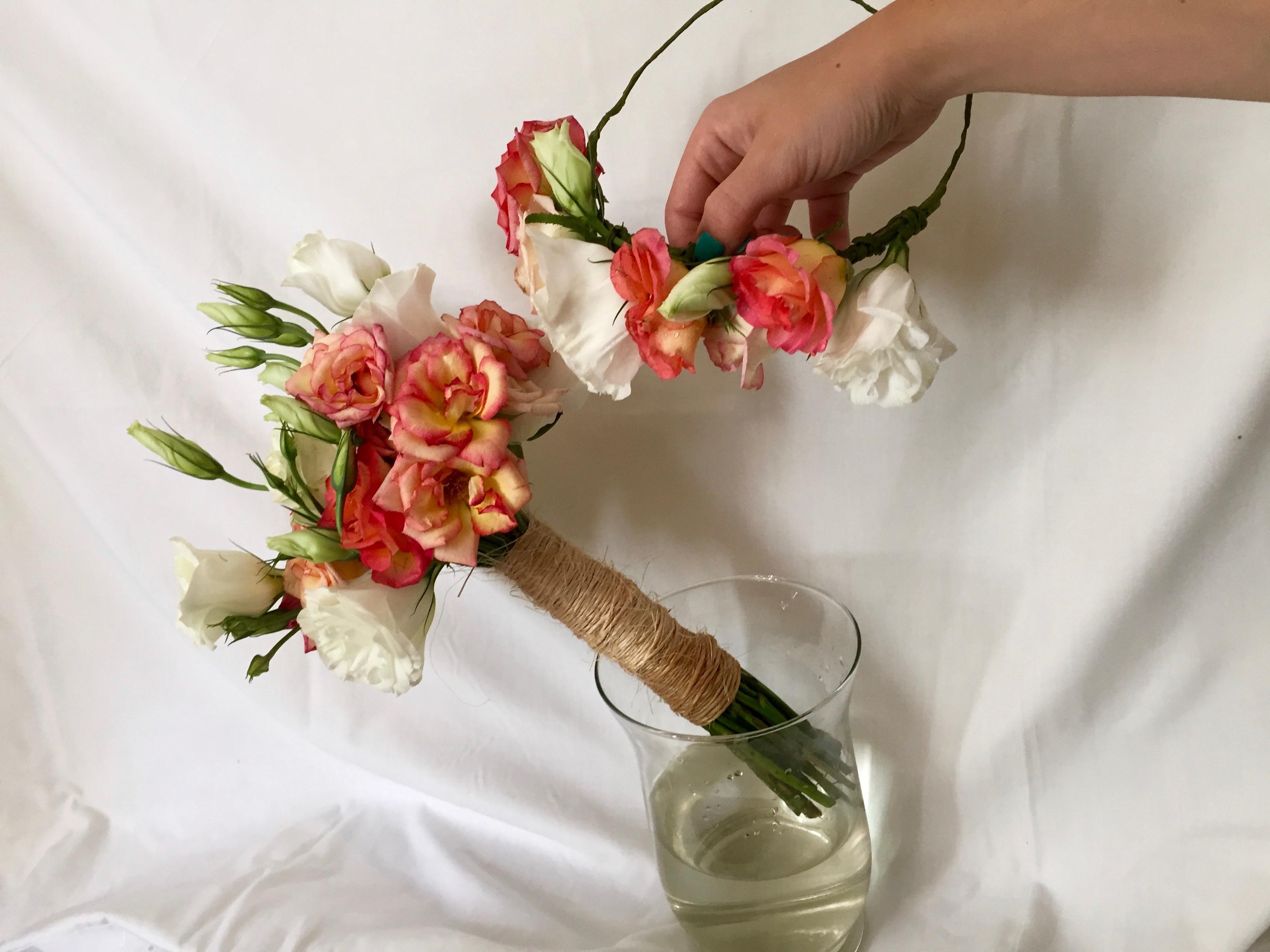 Ramo y tocado de Rosas
