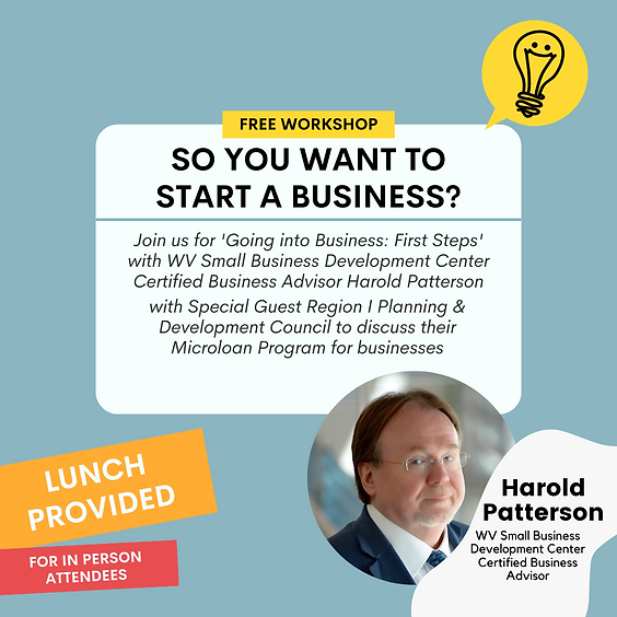 Lunch & Learn: Going into Business (First Steps)