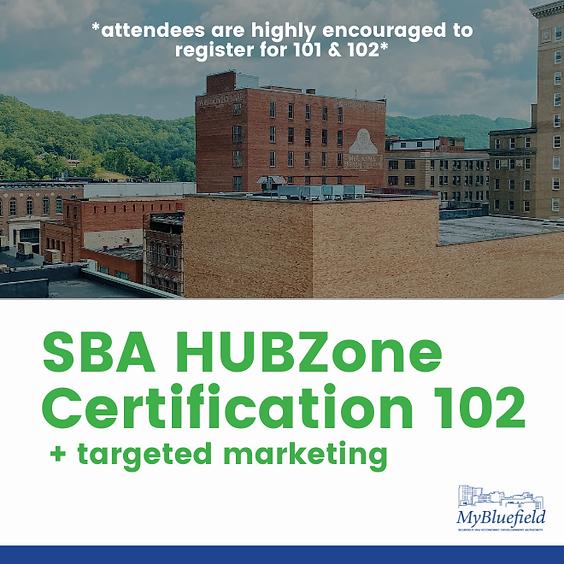 SBA HUBZone Certification 102